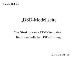 """""""DSD-Modellseite"""""""