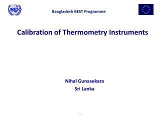 Calibration of Thermometry Instruments