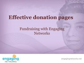 Effective donation pages