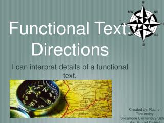 Functional Text: Directions