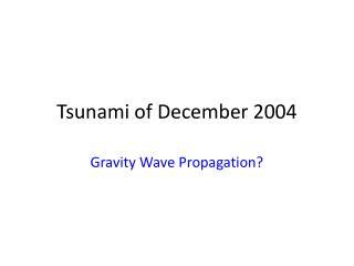 Tsunami of December 2004