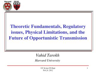 Vahid Tarokh Harvard University