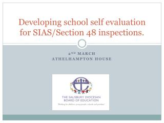 Developing school self evaluation for SIAS/Section 48 inspections.