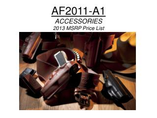 AF2011-A1 ACCESSORIES 2013 MSRP Price List
