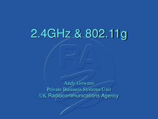 2.4GHz & 802.11g