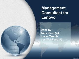 Management  C onsultant for  Lenovo