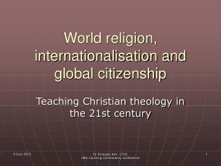 World religion, internationalisation and global citizenship