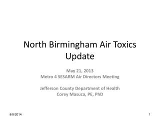 North Birmingham Air Toxics Update