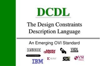 The Design Constraints Description Language