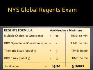 NYS Global Regents Exam