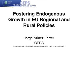 Fostering Endogenous Growth in EU Regional and Rural Policies