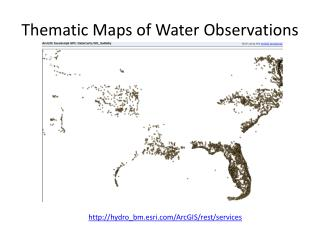 Thematic Maps of Water Observations
