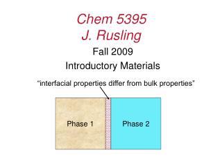 Chem 5395 J. Rusling