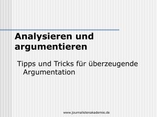Tipps und Tricks für überzeugende Argumentation