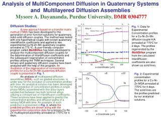 Diffusion Studies: