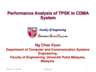 Performance Analysis of TPSK in CDMA System