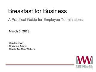Breakfast for Business