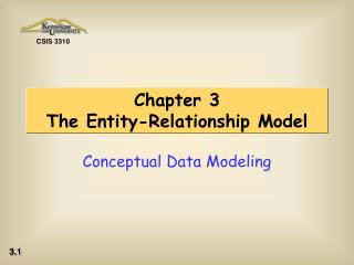 Chapter 3 The Entity-Relationship Model