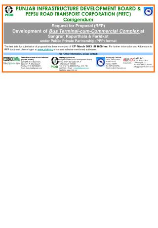 Feedback Infrastructure Services  (P) Ltd. (FISPL) SCO 218-219, Basement,  Sector 34 A, Chandigarh