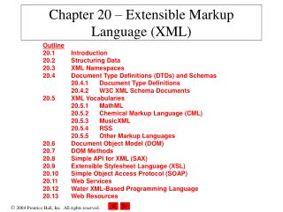 Chapter 20 – Extensible Markup Language (XML)