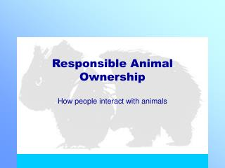 Responsible Animal Ownership
