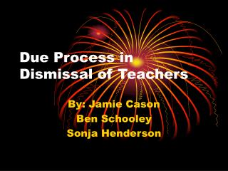 Due Process in Dismissal of Teachers