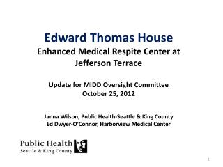 MIDD Strategy 12-b: Hospital Re-entry Beds