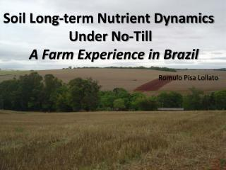 Soil Long-term Nutrient Dynamics   Under No-Till  A Farm Experience in Brazil
