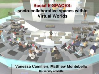 Social E-SPACES:  socio-collaborative spaces within Virtual Worlds