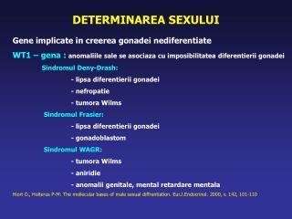 DETERMINAREA SEXULUI