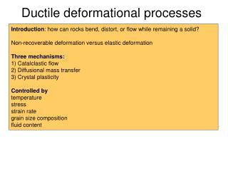 Ductile deformational processes  de