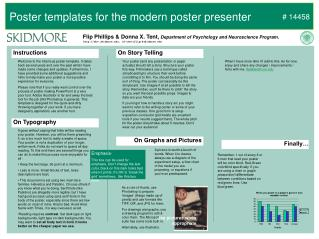 Poster templates for the modern poster presenter