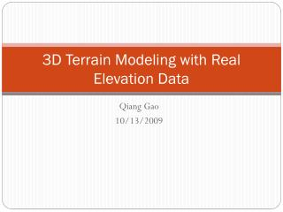 3D Terrain Modeling with Real Elevation Data