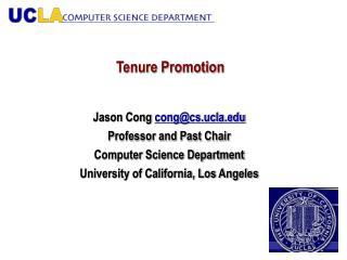 Tenure Promotion