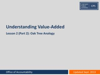 Understanding Value-Added