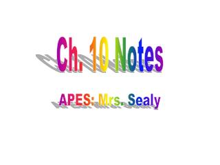 Ch. 10 Notes