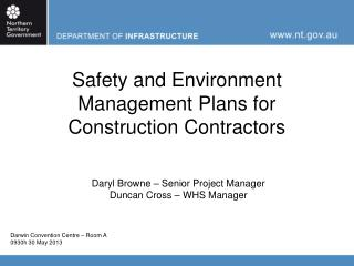 Safety and Environment Management Plans for Construction Contractors