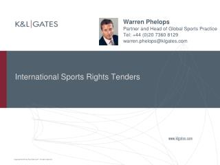 International Sports Rights Tenders
