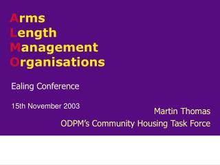 Ealing Conference 15th November 2003