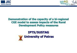 IPTS/SUSTAG  University of Patras