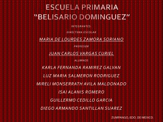 "ESCUELA PRIMARIA ""BELISARIO DOMINGUEZ"""