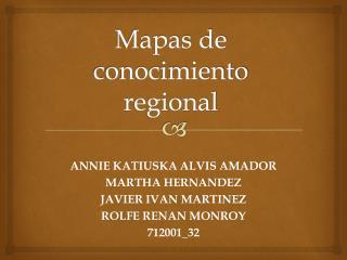 Mapas de conocimiento regional