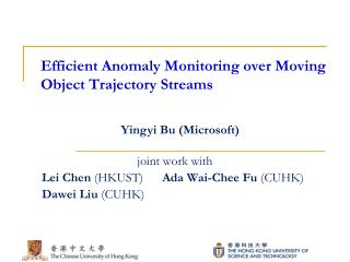 Efficient Anomaly Monitoring over Moving Object Trajectory Streams