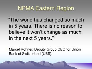 NPMA Eastern Region