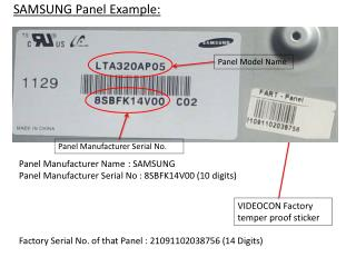 SAMSUNG Panel Example: