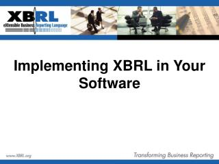 Implementing XBRL in Your Software