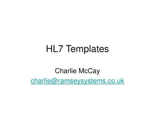 HL7 Templates