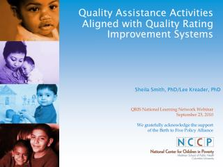 Quality Assistance Activities Aligned with Quality Rating Improvement Systems