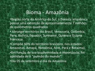Bioma - Amazônia