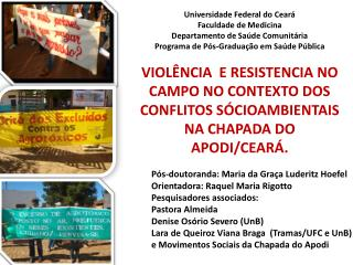 Universidade Federal do Ceará Faculdade de Medicina Departamento de Saúde Comunitária